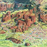 Meteora Map מפת מטאורה