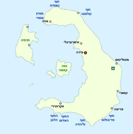מפת סנטוריני